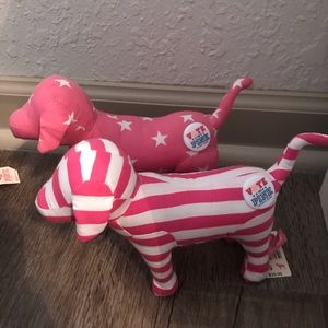 PINK patriotic mini dogs